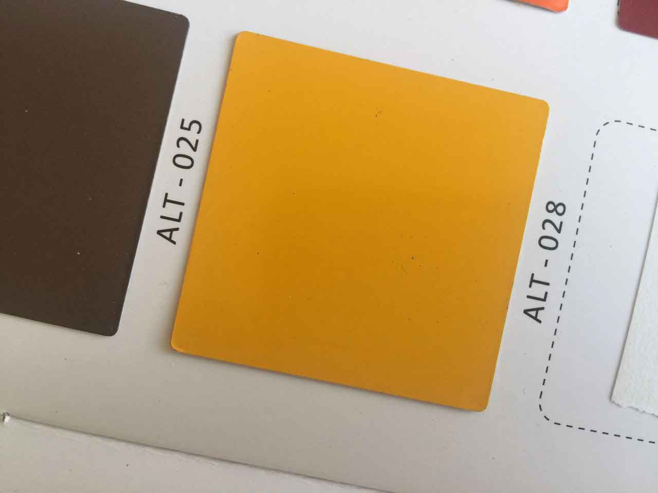 رنگ زرد ورق کامپوزیت با کد ALT-028 آلوتک