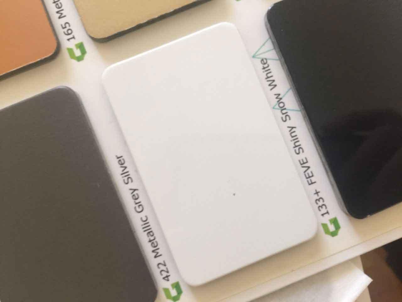 رنگ سفید یخچالی ورق کامپوزت گلوری باند با کد 133