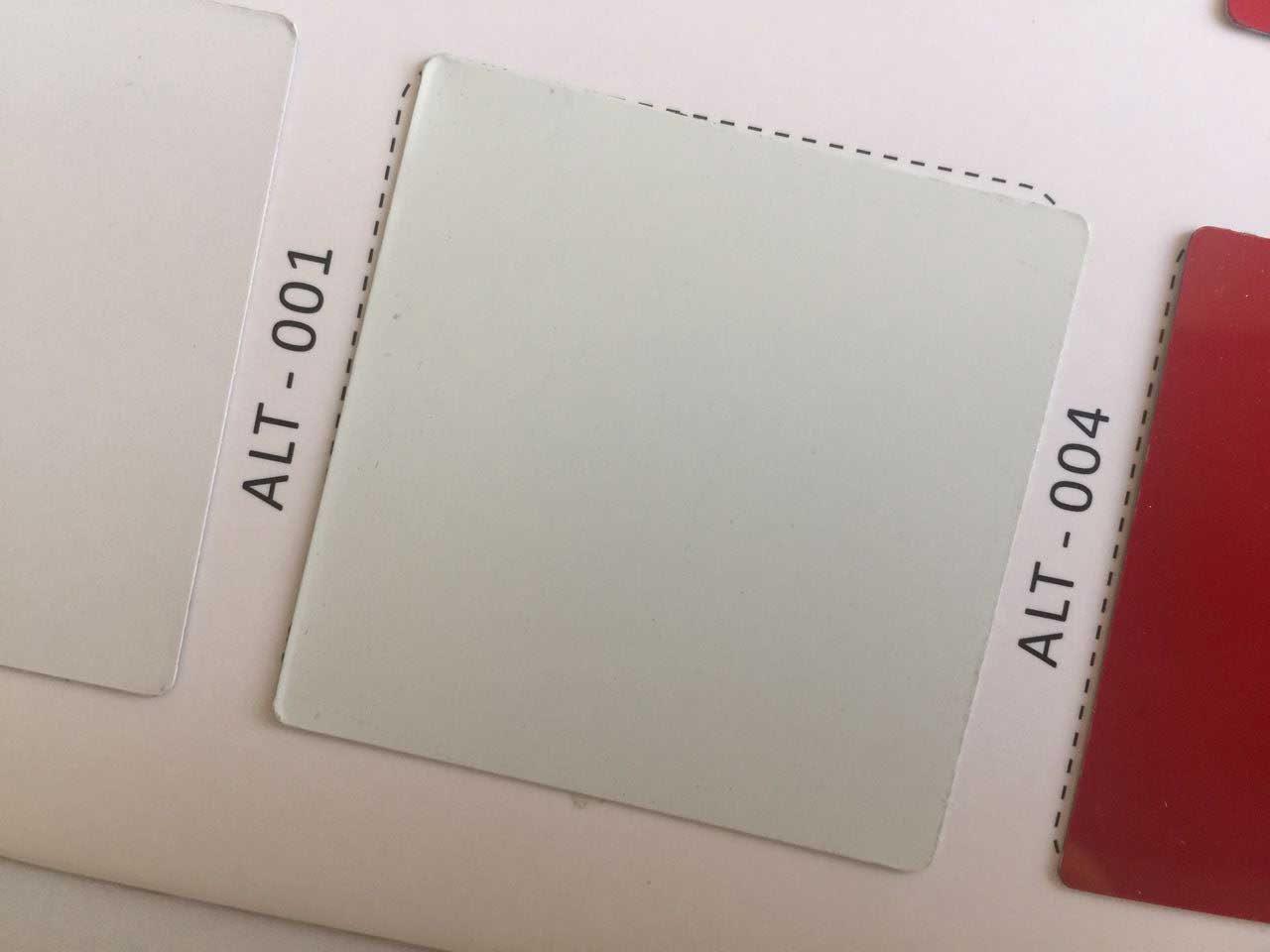 رنگ سفید ورق کامپوزیت از کالر چارت آلوتک