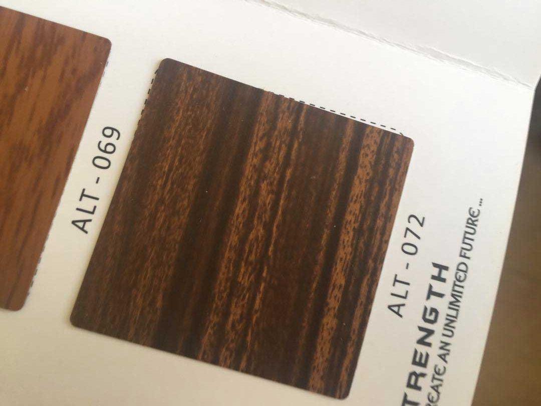 طرح چوب از ورق کامپوزیت آلوتک