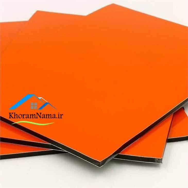 ورق کامپوزیت رنگ نارنجی
